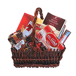 Basket with sweets