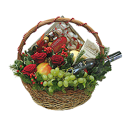 Basket by a holiday