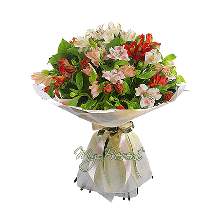 Bouquet of alstroemerias