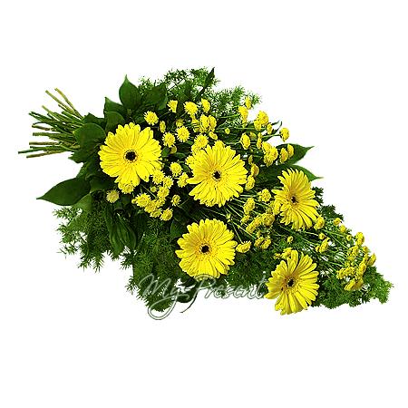 Bouquet of gerberas and chrysanthemums