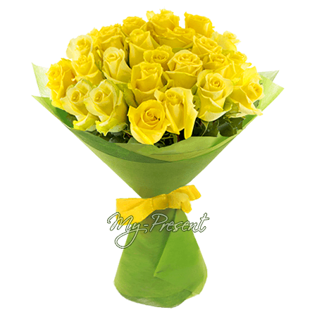 Bouquet of yellow roses (80 cm.)