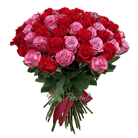 Bouquet of roses (60 cm.) in Baku