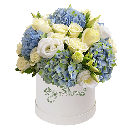 Flowers in box in Yalta