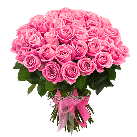 Bouquet of pink roses (50 cm.)